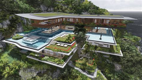 home concept design guadeloupe poetic home design concept perches on cliff overlooking sea
