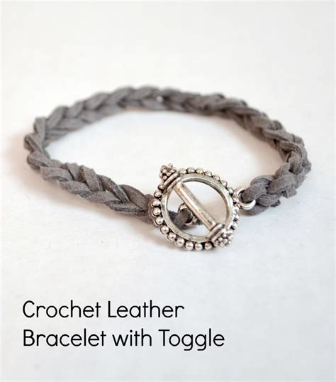 how to make jewelry with leather cord easy diy stacking bracelets crocheted leather cord