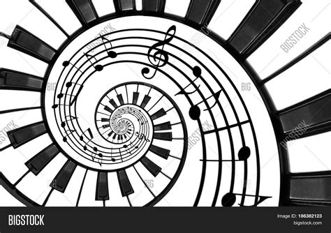 the pattern of white and black keys on the keyboard piano keyboard printed music image photo bigstock