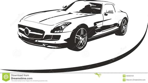 sports car black and white black and white sport car vector stock vector