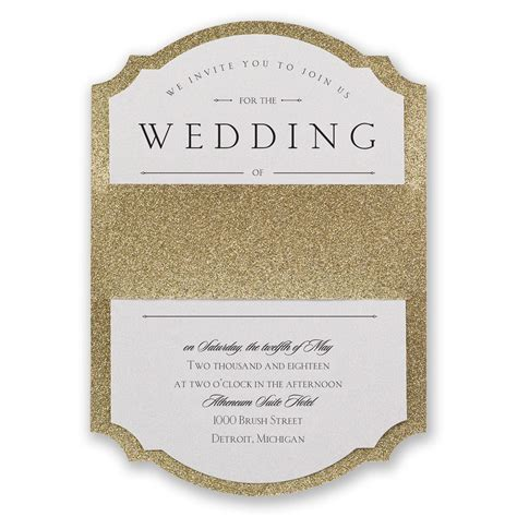 The Wedding Invitation by Sparkling Real Glitter Invitation Invitations By
