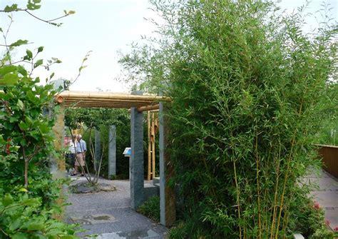 Gartengestaltungsideen Mit Bambus gartengestaltung mit bambus bambusrohre asiatisches flair
