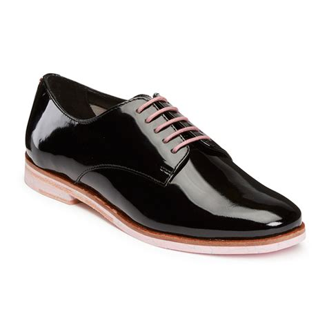 womens black patent leather oxford shoes ted baker s loomi patent leather oxford shoes