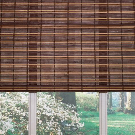 Woven Wood Blinds Lowes shop levolor 60 in l fruitwood light filtering woven wood shade at lowes