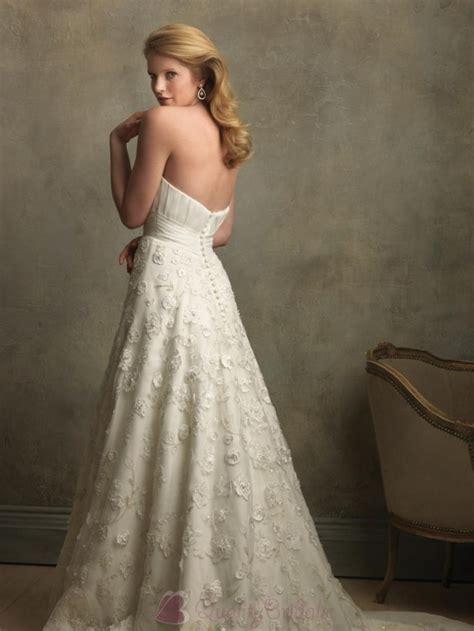 Vintage Ivory Wedding Dresses by Ivory Sweetheart Neckline Vintage Lace Wedding Dresses