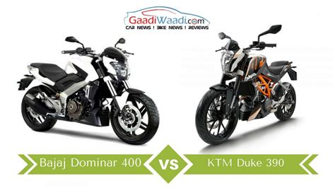 Bajaj Ktm Duke 390 Bajaj Dominar 400 Vs Ktm Duke 390 Specs Comparison