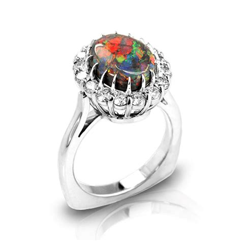 Design Your Own Wedding Ring Australia by Australian Black Opal Rings Jewelry Designs