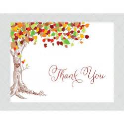 tree thank you cards style 602 whimsicalprints