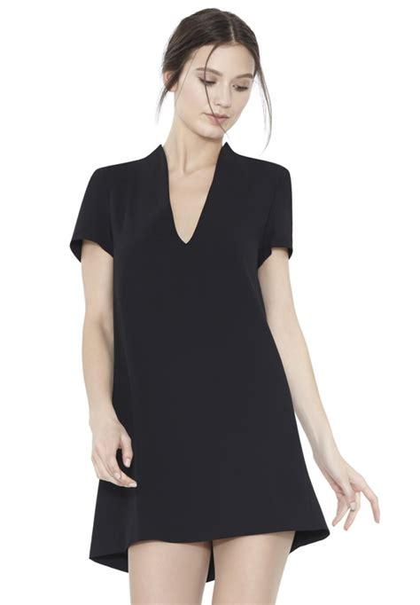 Boxy Dress seamed sleeve v neck boxy dress in black lyst