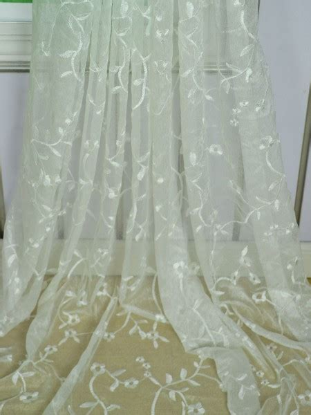 sheer embroidered curtains elbert branch floral embroidered custom made sheer
