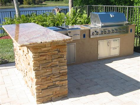 Outdoor Kitchen Islands Custom Outdoor Kitchen In Florida With Granite Gas Grills Parts Fireplaces And Service
