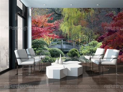 Japanese Garden Wall Murals japanese garden wall murals peenmedia com