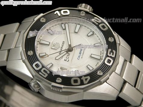 Tag Heuer Aquaracer 500m Silver White tag heuer aquaracer 500m calibre 5 automatic white stainless steel bracelet 52tgh3 68