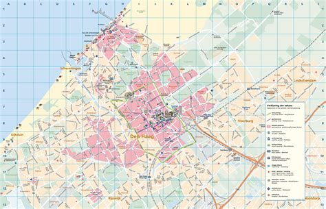 netherlands the hague map large detailed tourist map of the hague