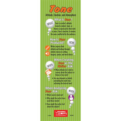 tone and mood bookmarks set of 30 s