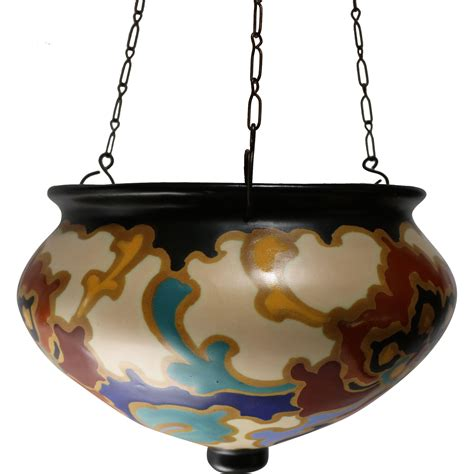 Pottery Hanging Planter by Gouda Pottery Hanging Pot Planter By In The