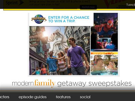 Modern Family Sweepstakes - the modern family getaway sweepstakes