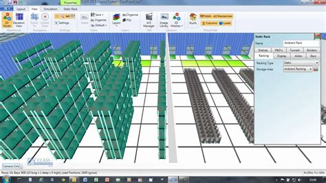 pallet racking layout design software class warehouse layout and simulation youtube