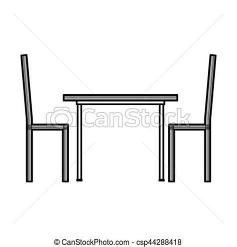 Stuhl Piktogramm by Vektor Clipart Tisch Abendessen Freigestellt Ikone