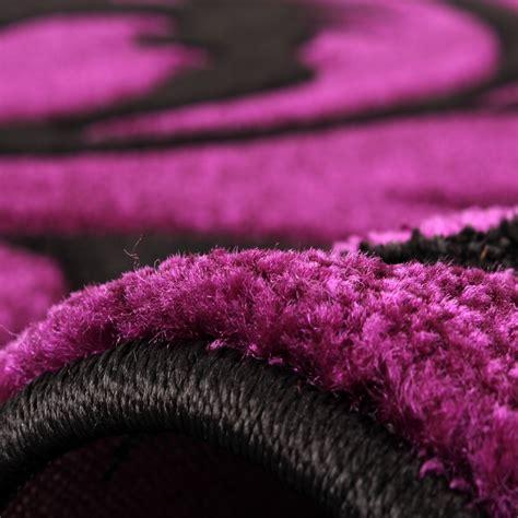 teppich läufer lila tapis de cr 233 ateur festival avec contours d 233 coup 233 s motif