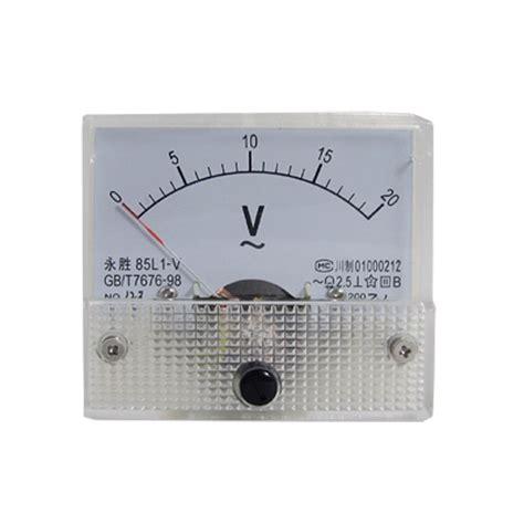 Voltmeter Ac Analog 85l1 v ac 0 20v analog voltmeter panel meter voltage bt ebay
