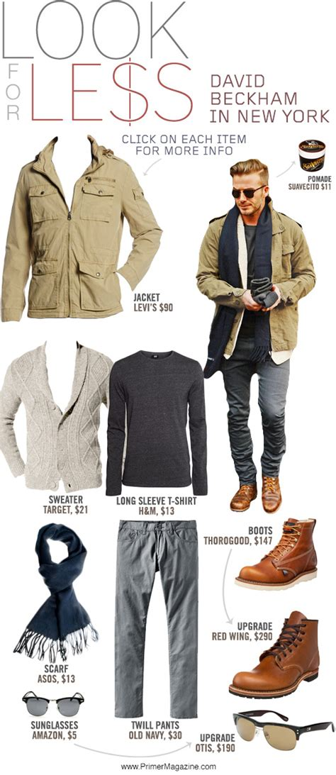 Dress Like A For Less Beckham by Look For Less David Beckham In New York Primer