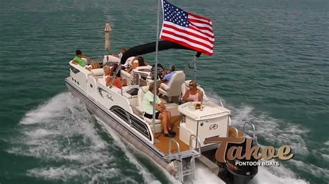 party boat flags pontoon boats 2013 tahoe deco sandbar youtube