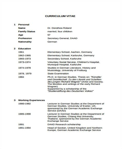 academic curriculum vitae template high school academic resume sle template 8 academic