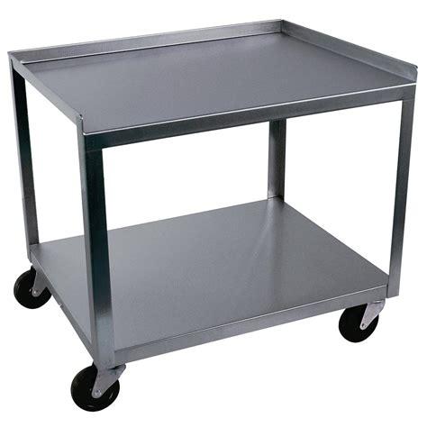 Two Shelf Cart 2 shelf stainless steel cart w56107 ideal mc221