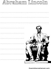 abraham lincoln printable writing paper presidents day worksheet abraham lincoln