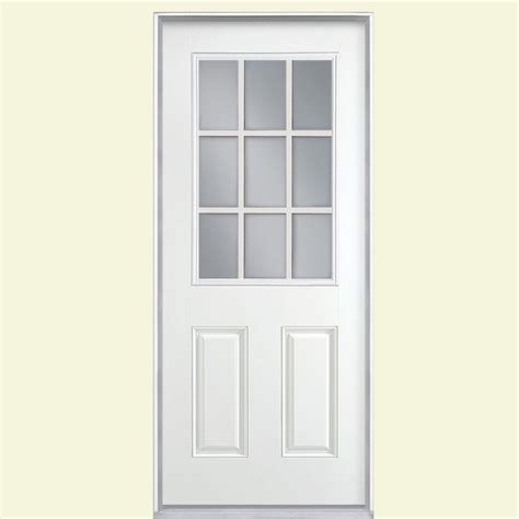 9 Lite Door by Masonite 36 In X 80 In 9 Lite Primed Smooth Fiberglass
