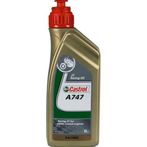 olio e spay castrol a747 2t 1l 183 motocard italia