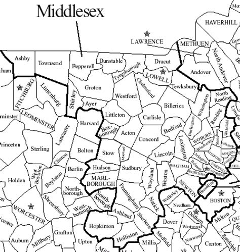 Middlesex County Ma Records Map Of Middlesex County Ma My