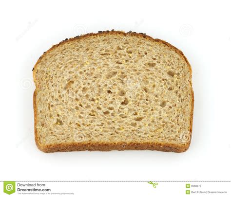 1 whole grain serving single slice of healthy whole grain bread royalty free