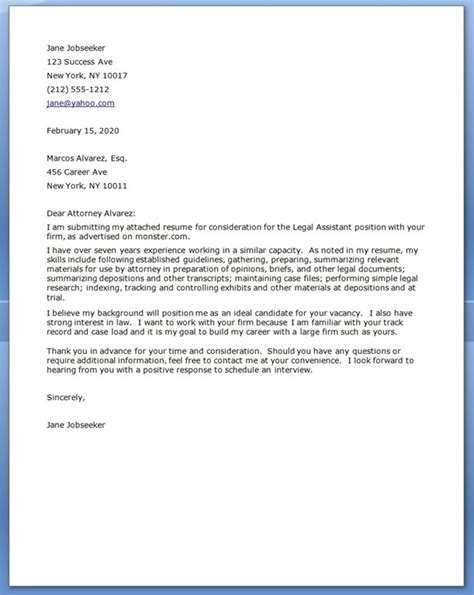 Staff Attorney Cover Letter by Cover Letter Resume Downloads