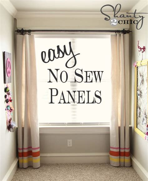 no sew curtains from sheets easy no sew window panels