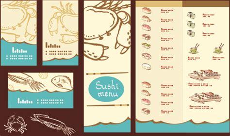 Vector Japan Sushi Menu Templates Free Vector In Encapsulated Postscript Eps Eps Vector Sushi Menu Template Free