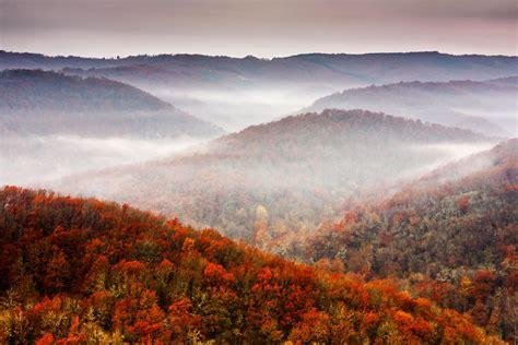 hd nature fall mountains tree sky foliage autumn forest