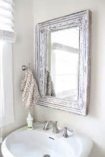 bathroom mirror molding rustic bathroom mirror use molding and distress to frame