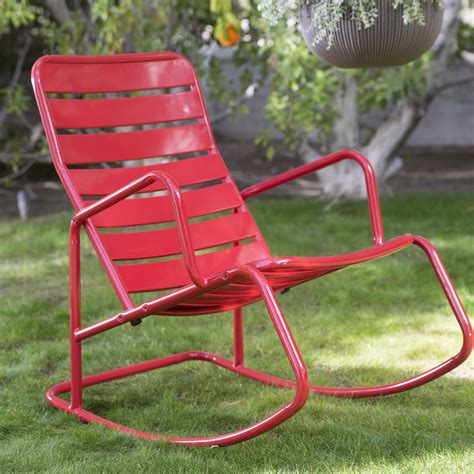 belham living adley outdoor metal slat rocking chair