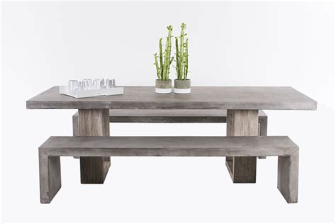 bench workstations concrete table zen bench 3pce remarkable furniture