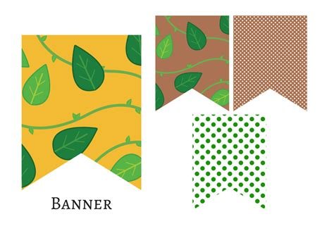 free printable one banner jungle baby shower banner magical printable