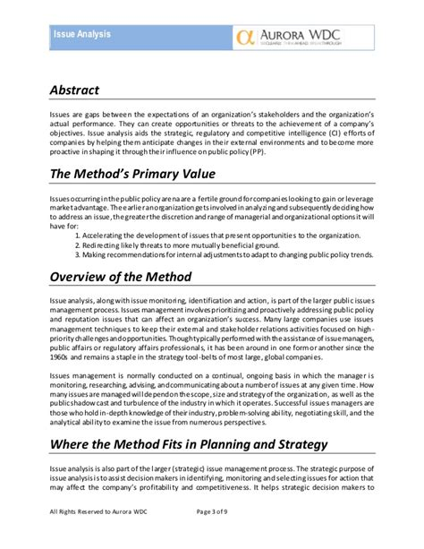 how to write an issue analysis paper mtm6 white paper issue analysis