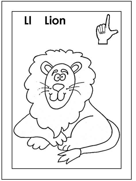 coloring activity pages quot ll quot is for quot lion quot with