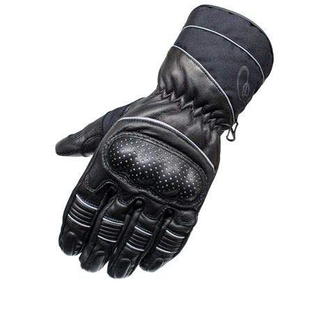motorcycle gloves black vector leather motorcycle motorbike waterproof all