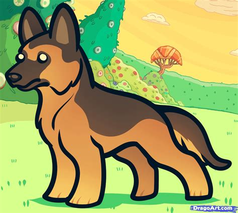 how to draw a german shepherd how to draw a german shepherd for step by step animals for for free