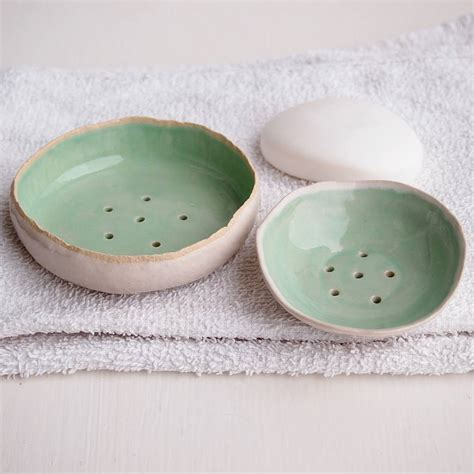 Handmade Soap Dish - handmade turquoise ceramic soap dish by kabinshop
