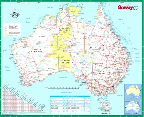 printable road maps australia large detailed road map of australia australia large