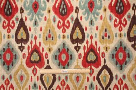 Upholstery Fabric Collections by Richloom Platinum Collection Django Printed Linen Blend