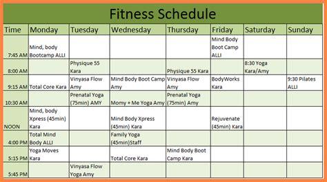 workout schedule template 7 workout schedule template marital settlements information
